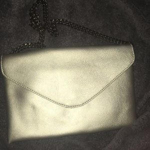 JCrew champagne handbag