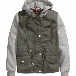 Twill Hooded Military Green Jacket 2