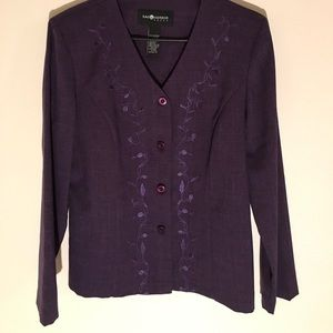 Sag Harbor Beautiful Purple Blazer