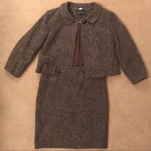 Banana Republic Brown Suit Jacket and Skirt