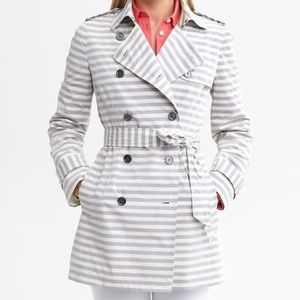 Banana Republic Stripped Trench Jacket Small