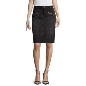 NWT $50 Women's a.n.a Black Denim Skirt Size 10