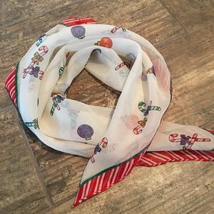 HOLIDAY SCARF CANDY CANES