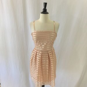 Light peach H&M striped pleated NWT party dress