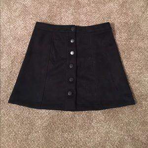 Forever 21 black suede skirt