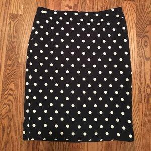 Polka Dot Pencil Skirt w/ Pockets!