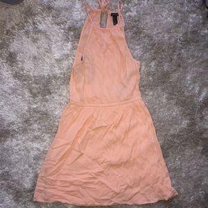 F21 Peach Halter Dress