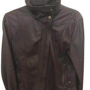Kenneth Cole New York brown leather jacket Medium