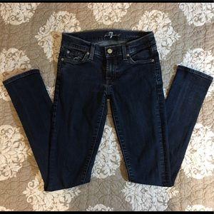 7 for all mankind Roxanne Dark wash skinny jeans