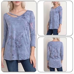 Tops - Soft Sexy Strappy Tie Dye Tunic Top ML