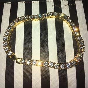 18K Gold Plated Diamond Bracelet