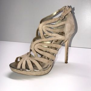 Tan suede heels