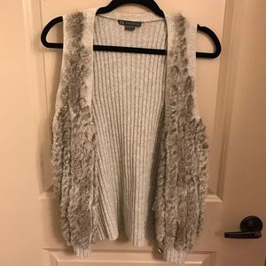 Armani Exchange fur sweater vest