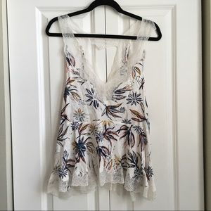 Intimately Free People Lacy Floral Tank - XS- NWT