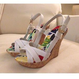 White Wedge Sandal - Size 6