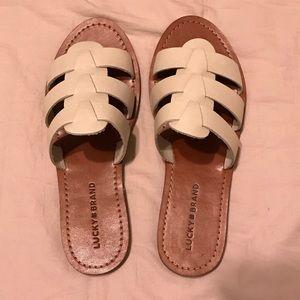 Lucky brand white sandal