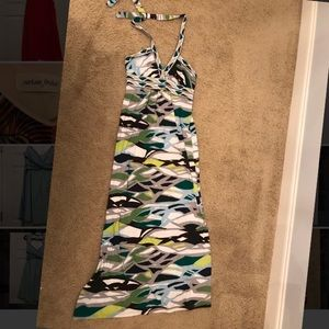 Green fun maxi dress