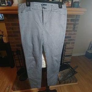 Gap slim city patterned pants 6 regular