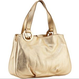 Michael Kors Fulton Metallic Gold