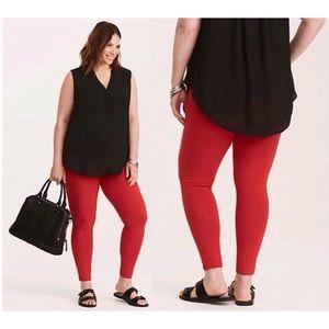 Full Length Trendy Red Premium Leggings