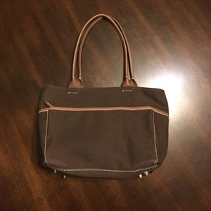 Chocolate Brown Gap Purse w/Light Brown Trim