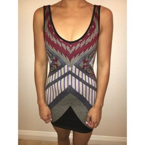 ASTR Printed Sweater Bodycon