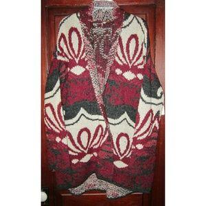 Free People L Winter's Day Cardigan Sweater Coat