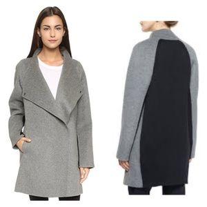 Vince 2 Tone Sweater Back Coat
