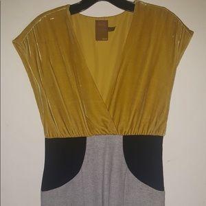 Ali ro mini veil dress with black panels