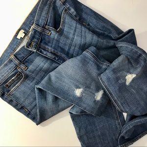 J.Crew Boyfriend cut ripped jeans - EUC