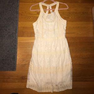 AMERICAN EAGLE - Cream Lace Dress - size 12