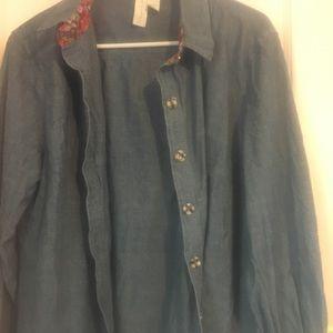 EUC Worn once Matilda Jane Denim Shirt Medium