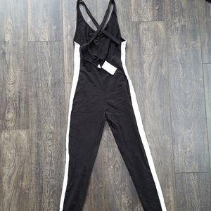 H&M Black & White Jumpsuit