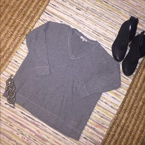Madewell gray Sweater 3/4 sleeves size Small