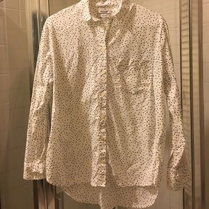 Madewell Polka Dot Oversized Button Up