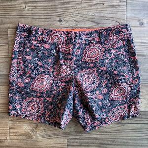 Ann Taylor Loft Petite Paisley Shorts