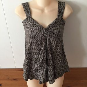 Michael Kors Brown Patterned Camisole Top