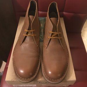 Men's Leather Clark's Brown Desert Boots 8