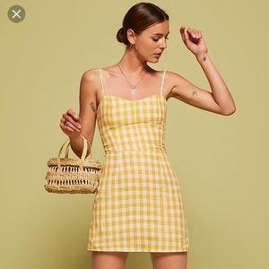 Reformation yellow Audrey dress