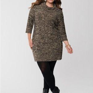 Lane Bryant • Cowl Neck Sweater Dress
