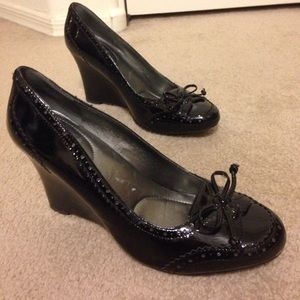 Enzo Angiolini Patent Leather Wedges -Size 8M
