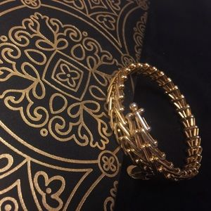 Alex and Ani gold wrap vintage 66