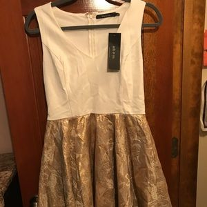 Ark&co cream and gold holiday dress Large