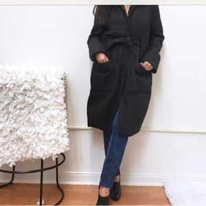 H&M oversized quilted texture coat