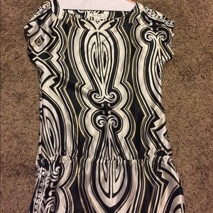 WHBM silky top with gathered waist