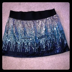 Sequin free people skirt