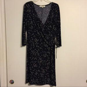 Midnight Blue and Kaki Dress