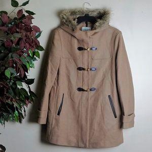 Cole Haan Hooded Duffle Coat