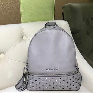 Michael Michael Kors gray studded backpack