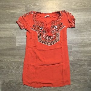 Abercrombie // Embroidered Short Sleeve Shift